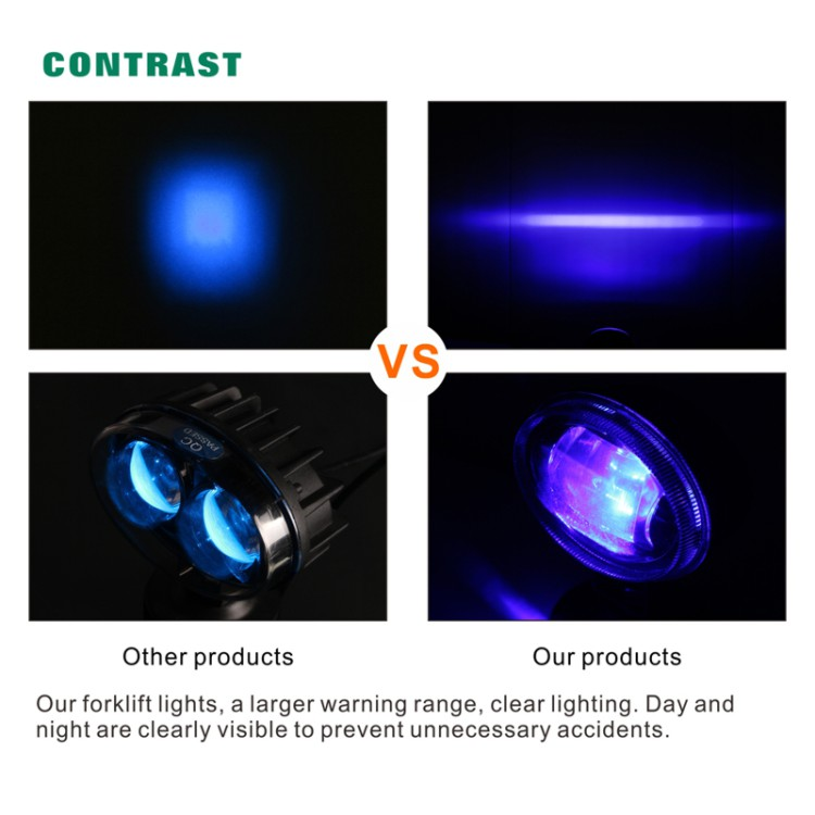 Forklift bluespot blue LED safety spotlight warning work light
