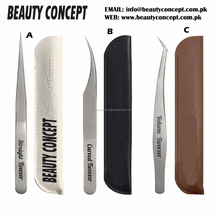 NEW Japanese Style Eyelash Extension Tweezers/ Professional NEW Style Eyelash Extension Tweezers with FREE Leather Case