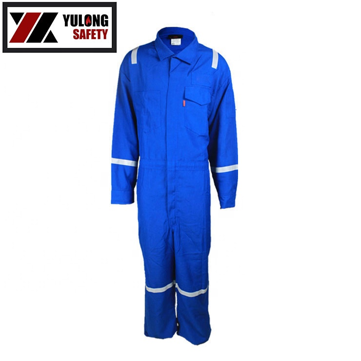 Satin Weave Fire Proof Construction Jumpsuit Workwear Used In Factory