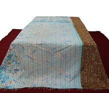 Indian Hand Stitched Old cotton Sari Recycled handmade reversible kantha Quilt Vintage patchwork Blanket Wholesale