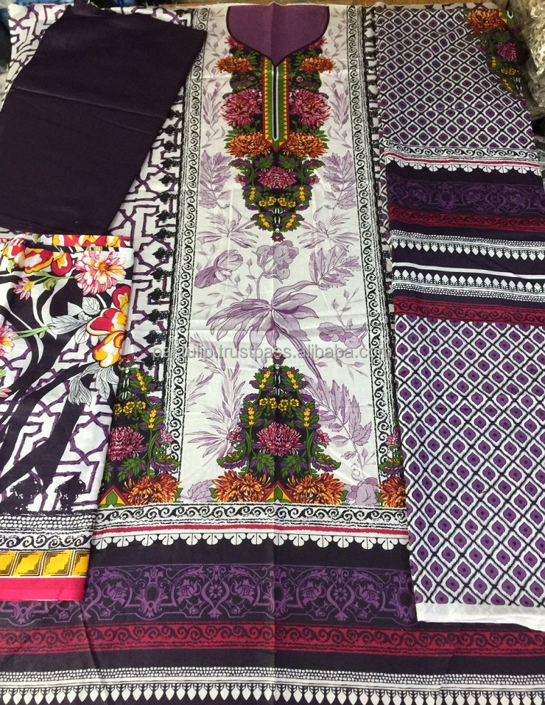 100% COTTON LAWN DIGITAL PRINTED PAKISTANI LADIES SHALWAR QAMEEZ SUIT FABRIC