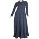 Latest design Mock Double Buttoned Abaya with pleats