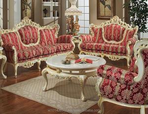 Turkey Style Royal Classic Mahogany Sofa Set Living Room Furniture