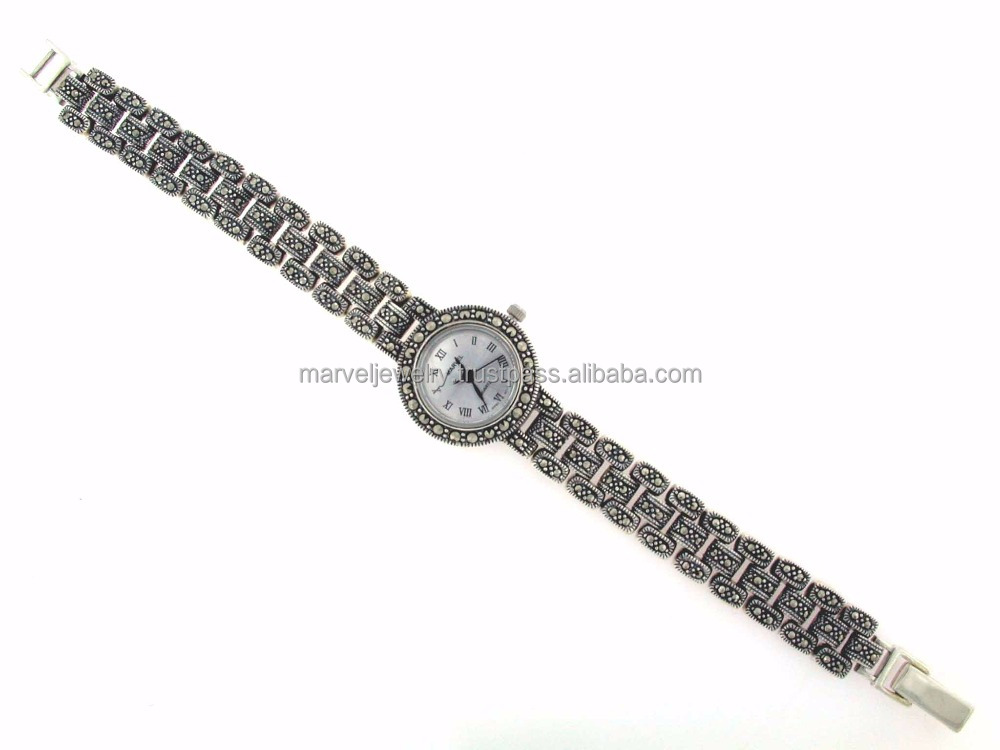 Marcasite Watch Thailand 925 Sterling Silver