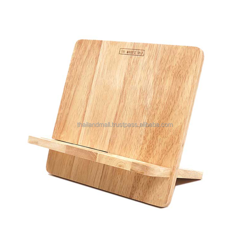 High Quality Rubber Wood Tablet Display Stand