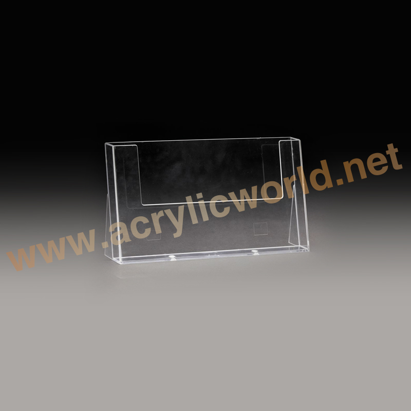 Brochure Holder or acrylic sign holder with business card pocket/acrylic display stand