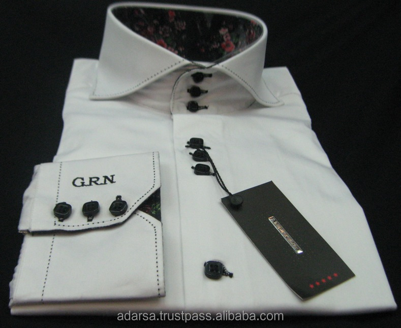 Printing or embroidery Promotional men's shirts With Logo Brand Custom Labels