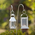 Street hanging stainless steel candle lantern
