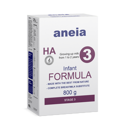 Aneia - German Growing Up Infant Milk Formula Powder HA 3 from 1 to 2 years (HACCP, ISO, Organic & Halal) 800 g box