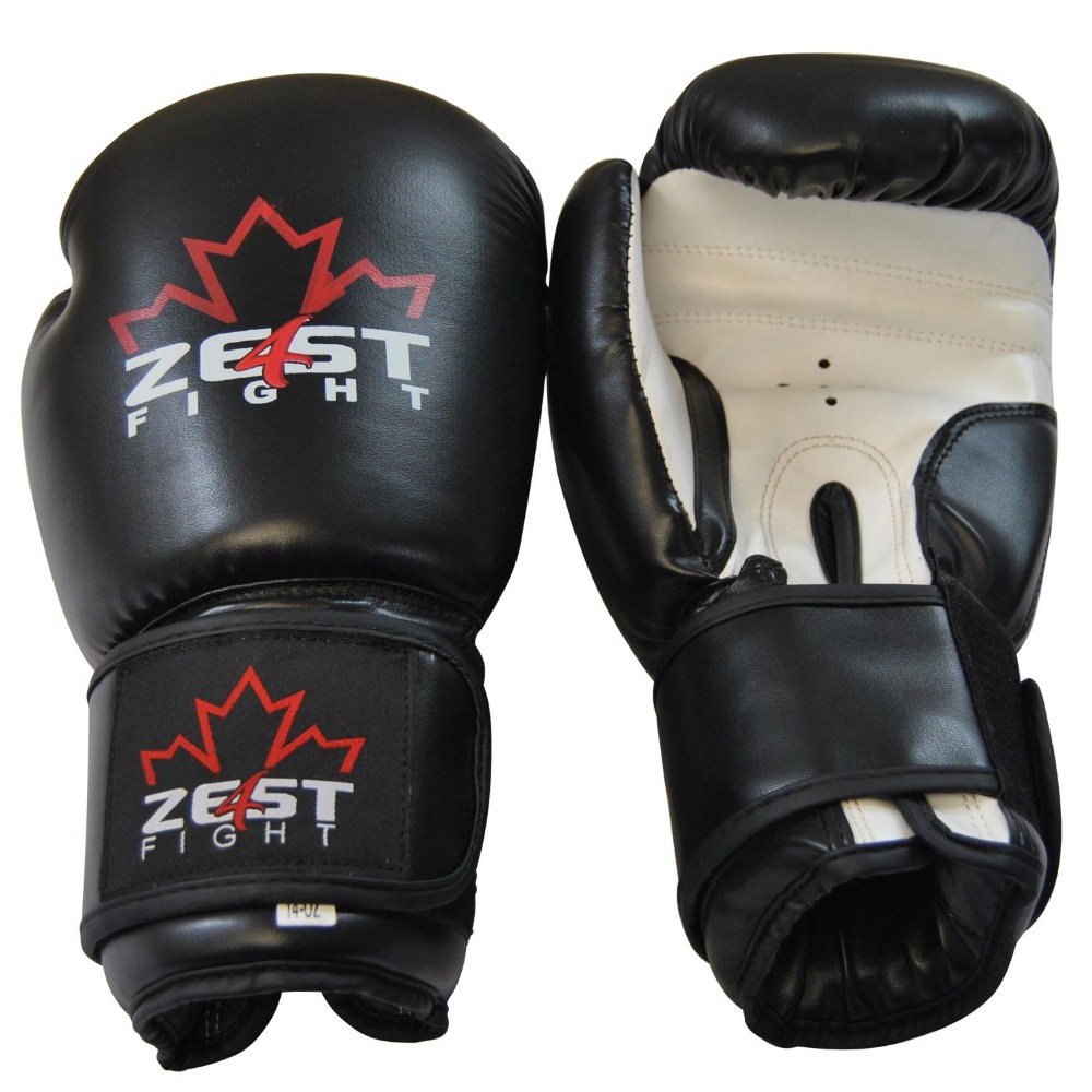 Black PU Leather Boxing Gloves
