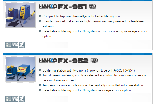 Soldering Iron/station by Hakko. Made in Japan