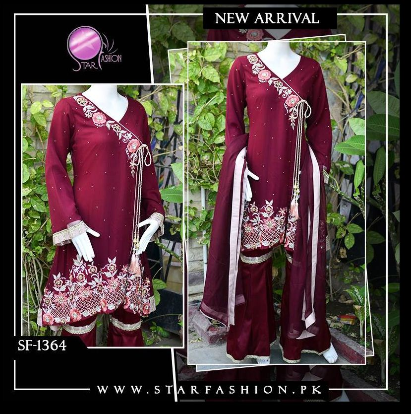 Classic Maroon Extravaganza outfit is a great pick for any #Wedding occasion on this #WeddingSeason. Glamorous & understated