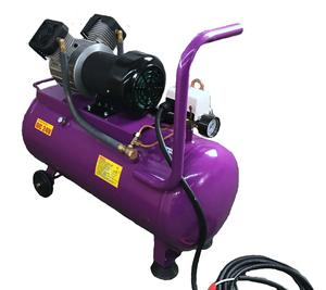 24V High Efficiency Extreme Long Duty Cycle DC Oil Free Twin Heads Portable Mini Air Compressor with 50 liters tank