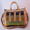 Moroccan Handmade Genuine Leather Kilim Travel Bag