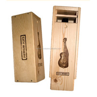 Top Quality Reusable Customized Luxury Handmade Wood Wine Box With Customized Logo