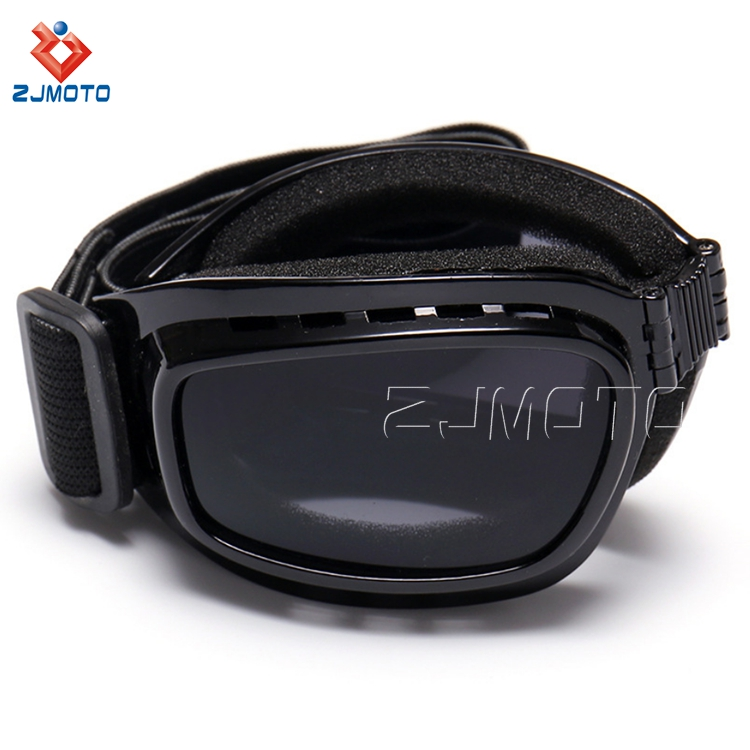 Ergonomic Design Motorcycle Foldable Ski Glasses Anti-dust Snowboarding Eye Protection Goggles