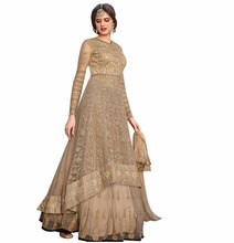 Semi-Stitched Top With Lehenga / Latest 2017 Dress Material With Heavy Embroidery & Pearl Stone Work (anarkali dresses)