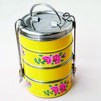 2015 Best selling high quality stainless steel tiffin 2 section/stainless steel food carrier /stainless steel lunch box