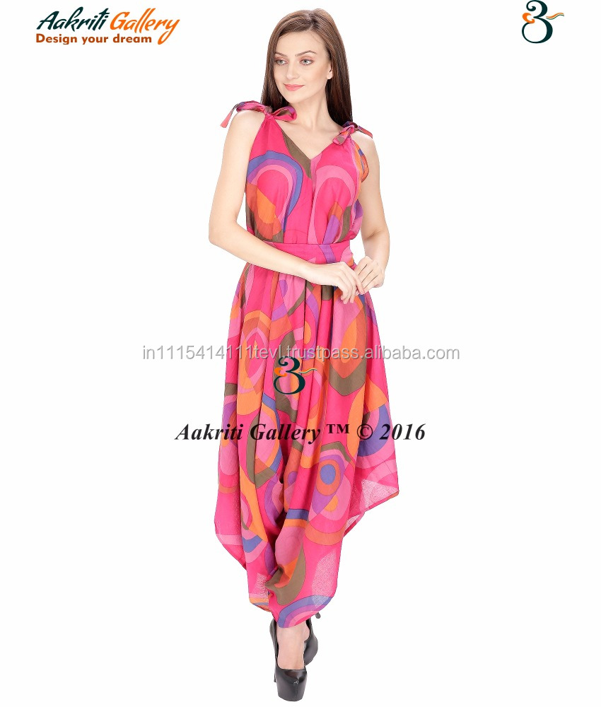 Cotton Women Dress Dance Rayon tight dress with pink belt Indian Dress