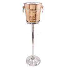 Hammered Cooler with Stand, 11/4 gallon, Copper/Stainless Steel