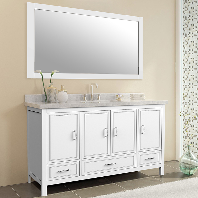 Leonard-48  48 inch american style freestanding single basin bathroom vanity