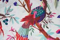 Indian cotton tribal fabric white bird printed by yard bohemian dress making material