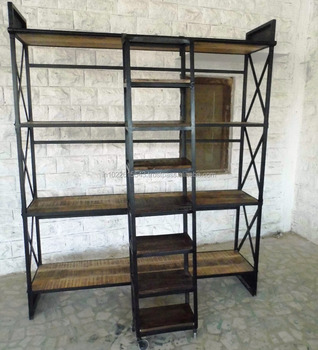 Industrial Furniture Display Rack with ladder
