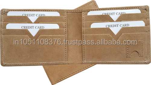 Gents Wallet in Camel Leather