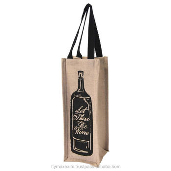 wedding gift tote bag/ wooden handle jute bag/ jute grocery bags