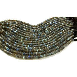 Excellent quality 8 inches Labradorite roundel faceted wholesale beads