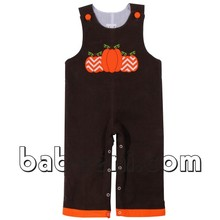 Cute pumpkins applique baby boy romper longall