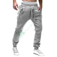 Top Brand Men Harem Joggers Pants Slim Fitness Male Trousers Mens Joggers Solid Zipper Hip Hop Pants Sweat pants Pantalon Homme