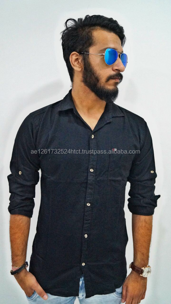 Poplin Shirt Full Sleave Casual Shirt Washed In-stock Available in Bulk