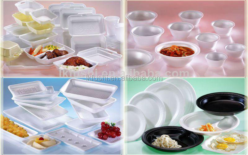 full automatic new design ps thermocol foam food box plate making machine ,egg tray production line
