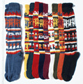 Alpaca Socks Wool Mens Womens Winter Hot Warm Peruvian Fiber Fabric Handwoven in Peru
