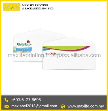 Custom Print Design Full Color Paper kraft Envelope