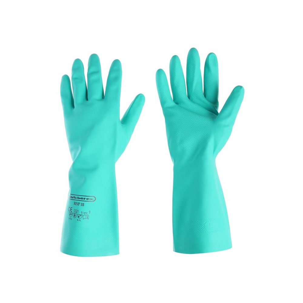 Malaysia Safety Chemical Resistant Green Super Nitrile Glove RNF18