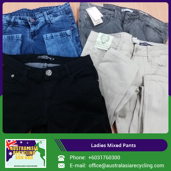 Supplier of Used Jeans Pants /Cargo Pants /Work Pants for Ladies