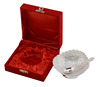 Traditional Wedding Party Table Decorative Silver Plated Brass Bowl With Box And Spoon