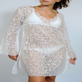 New White sheer beach tunic