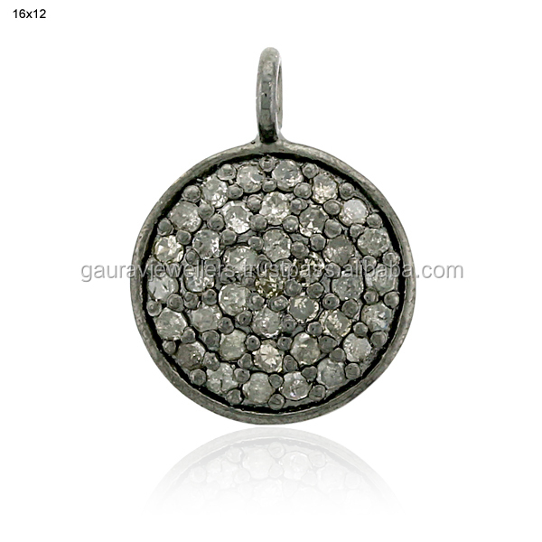 0.5 ct Diamond Necklace Pendant Women's Handmade Jewelry 925 Sterling Silver