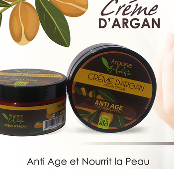 100 % Organic Fresh Moroccan Argan Anti-age face cream