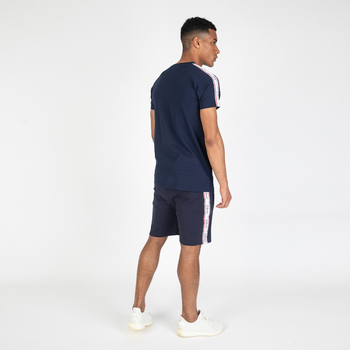 TS-300368 Navy 100% Cotton Jersey T-Shirts and Shorts Twinsets