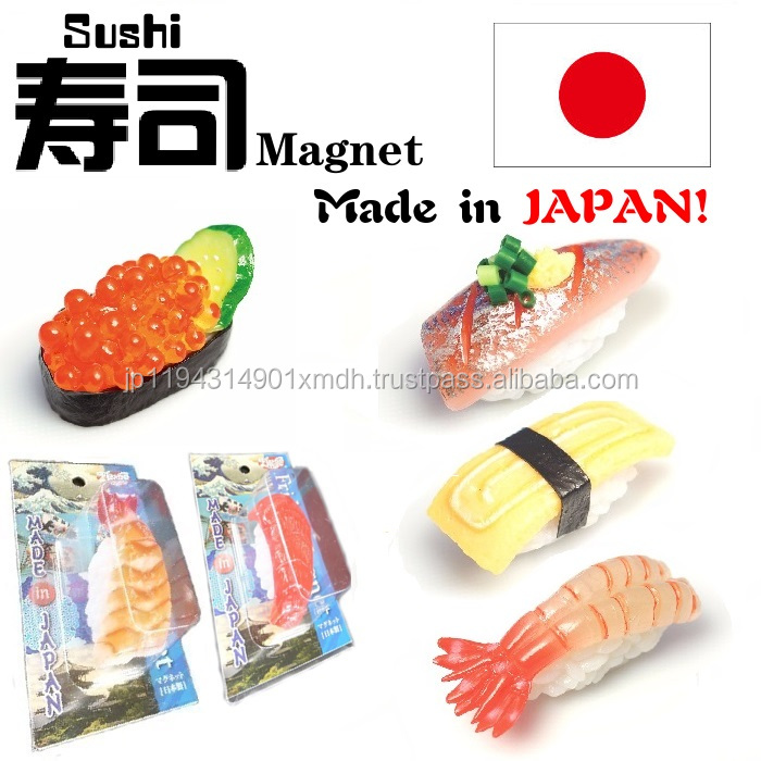Wide variety of hand made sushi fridge magnet souvenir for whiteboards