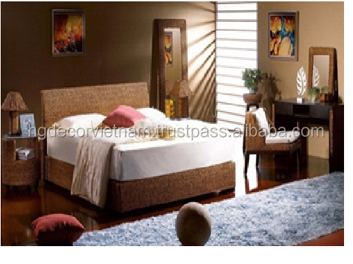 Perfect water hyacinth bedroom set for romantic couple, high quality product, Viet Nam