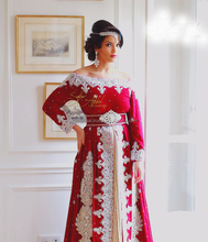 New Bridal Wear Designer Red Velvet Caftan With Exclusive Embroidery Design By Fifty3