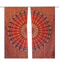 Indian Handmade Mandala Circle Cotton Wall tapestry Window Curtain