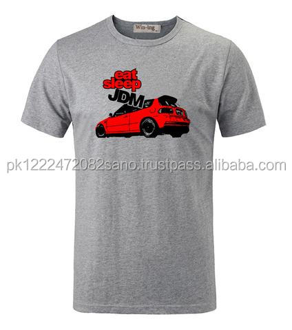 Cool Fashion Red Car Printed Shirt Short Sleeves T-Shirt