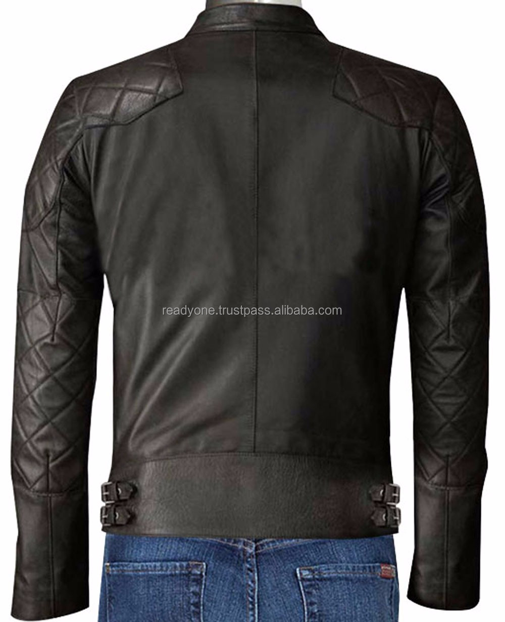 manufacturer OEM serivce turtle neck fashion style side zipper short body slim women red pakistan leather jacket