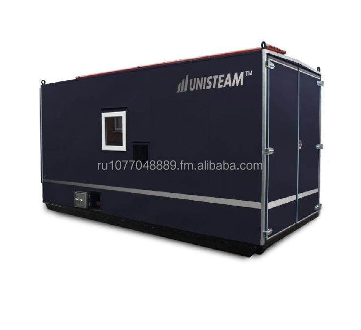 UNISTEAM-S line steam boiler house for oil extraction, heating, cleaning, warming up, hot water supply for oilfield, railroad